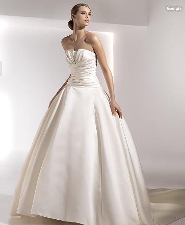 タフタAラインドレス